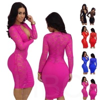 Женское платье Slim Fit Bodycon Clubwear dressQW1401