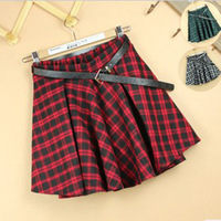 2014 Autumn New England School of wind plaid skirt