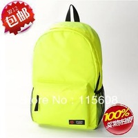 Japanese style brief canvas bag solid color female student backpack school bag backpack