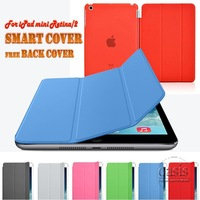 New 7.9 inch Smart Cover Case For Apple iPad mini 2 2G Retina Display Ultra thin Slim Premium Leather Stand Case Free Back Cover