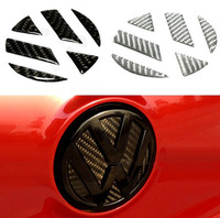 3D Carbon Fiber Rear Flusters Stickers For Volkswagen Golf 6 / New POLO / Magotan / CC / Tiguan  Car Steps Leaps Discontinuing