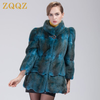 Zqqz mink aone mink fur outerwear women's medium-long dh62