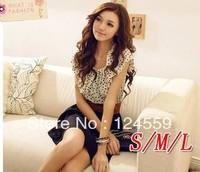 Free shipping  Sweet temperament dot  Korean waist dress  Women's Dresses  HOT SALE  Yes Belt
