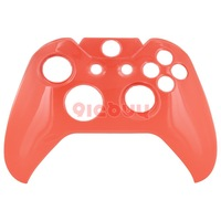 Crystal Clear Plastic Front Face Cover Shell Protector for Xbox One Controller, Red