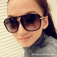 (Minimum order $ 10) 2014 new 961 large square sunglasses retro style metal glasses for men  women girl gift women coating