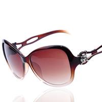 2015 new ladies women fashion wholesale sunglasses big hollow fashion coating glasses 20369 girl gift