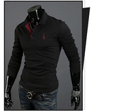 Mens Casual Premium Slim Fit Stylish Long Sleeves Polo Shirts Tops T-Shirt New