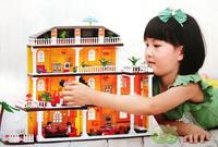 2013 new designed educational toys for children girl ABS building blocks  900 pcs princess loft model christmas gift for  girl