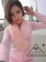 2013 autumn women's sexy slim fur collar sweater short skirt casual set