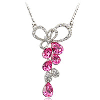 Accessories fashion butterfly drop female short design chain austria crystal necklace