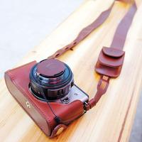 Konosuke gx1 genuine leather camera bag case base set zoom back cover