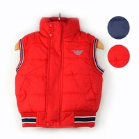 Export high-quality 2013 autumn Children's clothing child Fashion vest baby boys thickening cotton waistcoat&tops kids outerwear