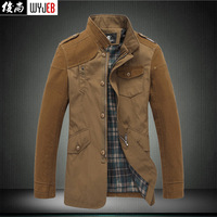 Plus size plus size coat autumn and winter male casual outerwear plus size men's clothing outerwear autumn and winter stand