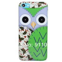 Free Shipping Cute Owl Design Hard Phone Case Cover For Apple iPhone 5C