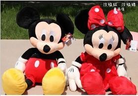 Детская плюшевая игрушка 36 2pcs Mickey & Minnie hot sale minnie girls dresses print cosplay dresses halloween costume clothes party mickey tutu dresses 2t 12t