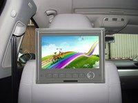 Digital HD screen Headrest Monitor by Car mount bracket,with AV-IN function,IR transmission function option