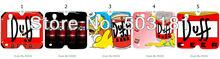 2014 moda pintado 2 pçs/lote duff beer casos pu carteira de couro para samsung Galaxy S4 / I9500 Leather Case + grátis frete(China (Mainland))