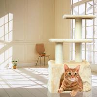 Top shop Pet toy supplies cat toy box cat climbing frame the cat litter cat pillar beige