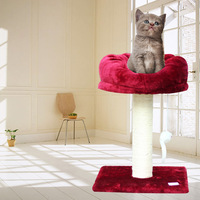 2013 new Pet toy supplies cat toy duomaomao Wine red cat litter cat climbing frame cat tree belt