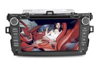 Toyota Corolla 2 DIN Car DVD Player+Radio+RDS+GPS Navigation+Digital TV ISDB-T+IPOD+1080P Playing+Bluetooth+USB/SD+Wheel Control