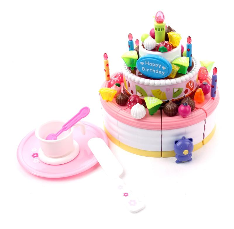 Five-star baby toy child birthday cake toy model set(China (Mainland))