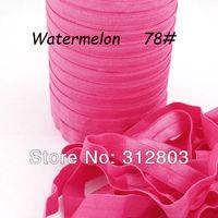 Watermelon Fold Over Elastic for Baby Headbands - 50 Yards of 5/8 inch FOE