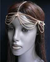 Free shipping multi-level, crossing with gem euramerican popularity head gear
