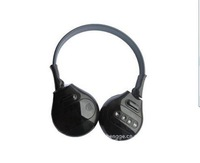 dual channel IR wireless headphone with black color