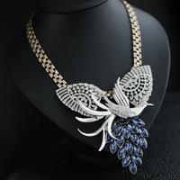 Wholesale New Fashion Phoenix Luxury Vintage Czech Crystal Chunky Statement Necklace Collar Bibs Costume Jewelry Free Shipping