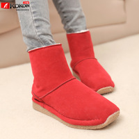 Winter fashion vintage plain plus cotton thermal boots snow boots cotton-padded shoes motorcycle boots martin boots