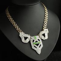 Wholesale New Fashion Women Luxury Vintage Czech Crystal Necklace Chunky Costume Jewelry Ngau Tau Collar Bibs Free Shipping