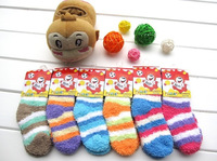 Kid's socks children socks baby socks floor socks towel socks child socks non-slip thickening winter thick socks