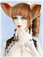 Free shipping  DHL soom Breccia fox sister dod doll bjd/sd1/3doll volks luts gem(include makeup and eyes)