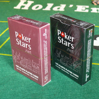 one wine red or one black plastic playing cards poker stars 2012 hot-selling