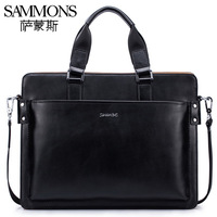 2013 New style Man bag cowhide casual handbag briefcase laptop bag fashion color block shoulder bag