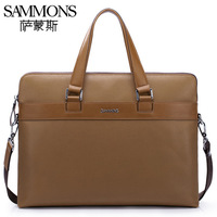 2013 vintage Personalized commercial man bag cowhide handbags genuine leather briefcase laptop bag