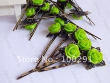 cheap green bobby pins
