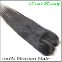 Hot Sale Lace Closure 4x4 Straight Hair Middle Part Bleached Knots Natural Color Brazilian Virgin Human Hair DHL Free Shipping