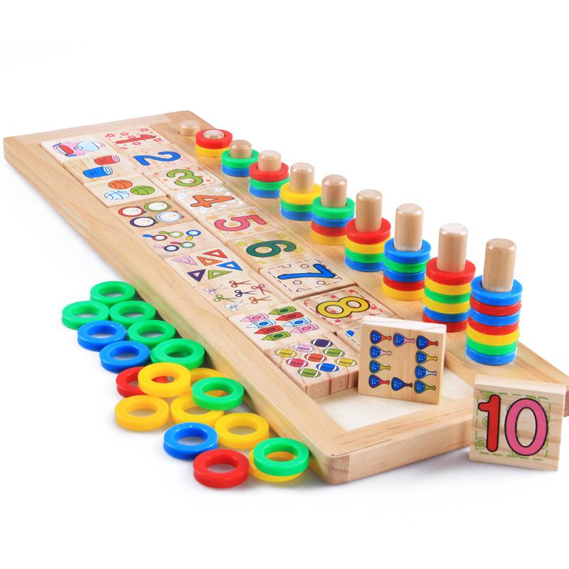 Free Shipping!Baby Toys Montessori Educational Wooden Toys Teaching Logarithm Version Kids Wooden Blocks Toys Gift 1pc(China (Mainland))