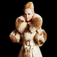 Europe High Fashion Women Luxury Real Raccoon Fur Collar Slim Down Coats Plus Size Winter Warm Parkas Top Quality F15146