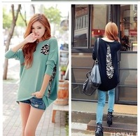 2013 autumn chiffon patchwork basic shirt loose top maternity long-sleeve T-shirt