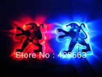 Peugeot 307 207 206 led lamp label refit back light,Logo LED back light peugeot 206,free shipping