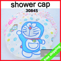 FREE SHIPPING Shower Hat Hair Treatments Tool Cartoon Bathing Caps Waterproof Helper Adult Kids Gift 20pcs/lot Say Hi 30845