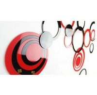 Hot Sale 5 rings/set Creative Stereo Wall Circle Stickers 3D Mural Indoor Decor Wall Art Decoration 5 Colors