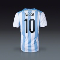 white 2014 World Cup jersey Argentina home #10 MESSI top thailand quality jersey football jersey sportswear Free Shipping