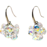 Neos accessories crystal fine earrings female drop earring ear hook earring