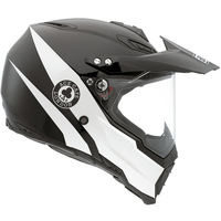 International brand Original agv helmet off-road helmet black and white carbon fiber ax8 compound material