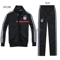 New  best quality 13/14 Bayern Munich Track Jacket+pants, Soccer Coats, Football Training suit Clothes Free Shipping