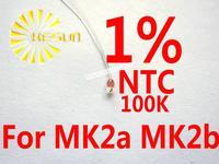 50Pcs/lot 100K ohm 1% NTC 3950 Thermistors for 3D Printer Reprap Mend For 3D Printer MK2a MK2b