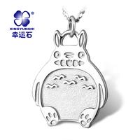 Totoro necklace cartoon accessories pendant totoro 925 pure silver